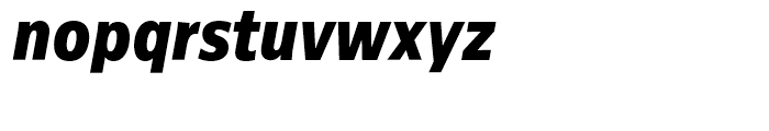 Centrale Sans Condensed ExtraBold Italic Font LOWERCASE