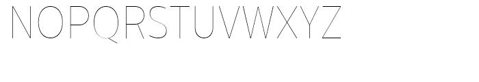 Centrale Sans Condensed Hairline Font UPPERCASE