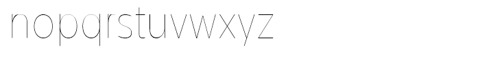 Centrale Sans Condensed Hairline Font LOWERCASE