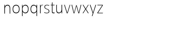 Centrale Sans Condensed Thin Font LOWERCASE