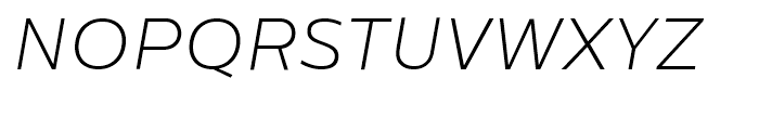 Centrale Sans Extra Light Italic Font UPPERCASE