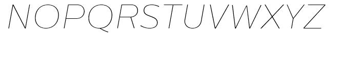 Centrale Sans Extra Thin Italic Font UPPERCASE