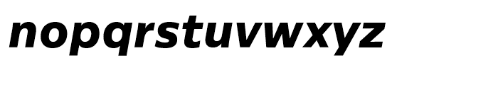Centrale Sans ExtraBold Italic Font LOWERCASE
