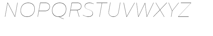 Centrale Sans Hairline Italic Font UPPERCASE