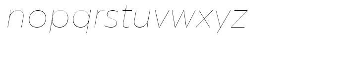 Centrale Sans Hairline Italic Font LOWERCASE