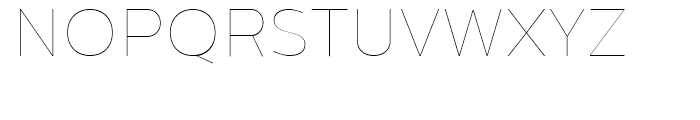 Centrale Sans Hairline Font UPPERCASE