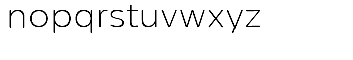 Centrale Sans Rounded Extra Light Font LOWERCASE