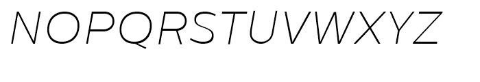 Centrale Sans Thin Italic Font UPPERCASE