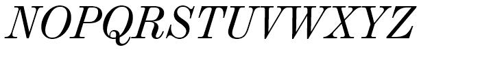 Century 725 Italic Font UPPERCASE
