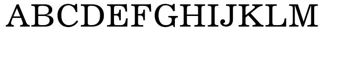 Century 731 Roman Font UPPERCASE