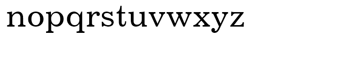 Century 731 Roman Font LOWERCASE