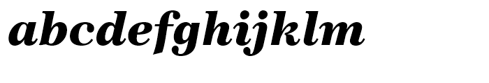 Century 751 Black Italic Font LOWERCASE