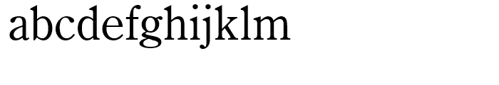 Century Oldstyle Roman Font LOWERCASE