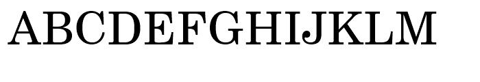 Century Schoolbook Roman Font UPPERCASE