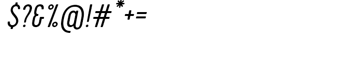 Cervo Light Italic Font OTHER CHARS