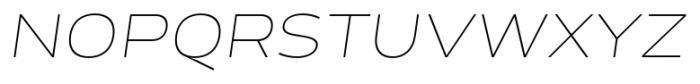 Cedra 4F Wide Thin Italic Font UPPERCASE
