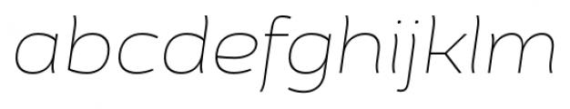 Cedra 4F Wide Thin Italic Font LOWERCASE