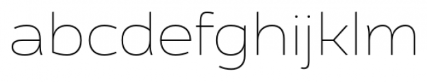 Cedra 4F Wide Thin Font LOWERCASE
