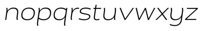 Cedra 4F Wide UltraLight Italic Font LOWERCASE