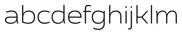 Cedra 4F Wide UltraLight Font LOWERCASE