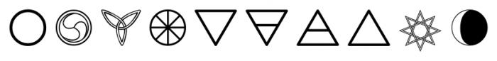 CelticAstrologer Regular Font OTHER CHARS