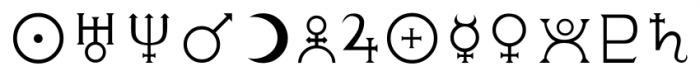 CelticAstrologer Regular Font LOWERCASE