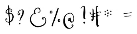 Cerise Regular Font OTHER CHARS