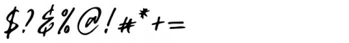 Celiya Script Regular Font OTHER CHARS