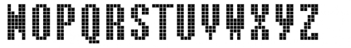 Cellular One Regular Font UPPERCASE