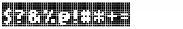 Cellular Three Menu Font OTHER CHARS