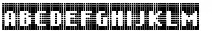 Cellular Three Menu Font UPPERCASE