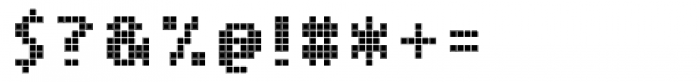 Cellular Three Regular Font OTHER CHARS