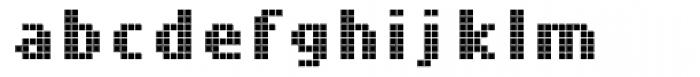 Cellular Three Regular Font LOWERCASE