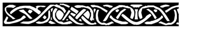 Celtic Borders Font LOWERCASE