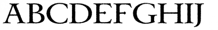 Celtic Garamond Pro Rough Font UPPERCASE