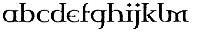 Celtic Garamond Pro Rough Font LOWERCASE
