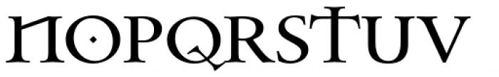Celtic Garamond Pro Font UPPERCASE