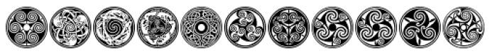 Celtic Ornaments BA Font UPPERCASE