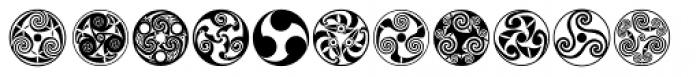 Celtic Ornaments BA Font LOWERCASE