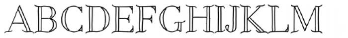 Centaurea Outline Font UPPERCASE