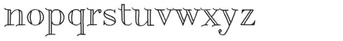 Centaurea Outline Font LOWERCASE