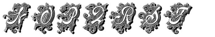 Centennial Script Fancy Shadow Font UPPERCASE