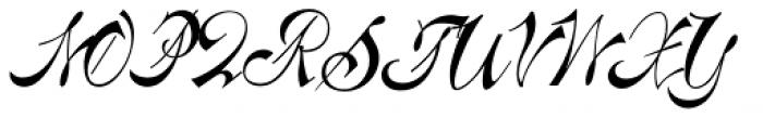 Centennial Script Font UPPERCASE