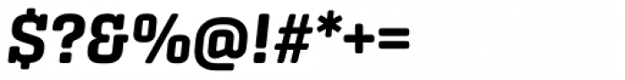 Center Slab Bold Italic Font OTHER CHARS