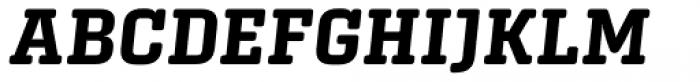 Center Slab Bold Italic Font UPPERCASE