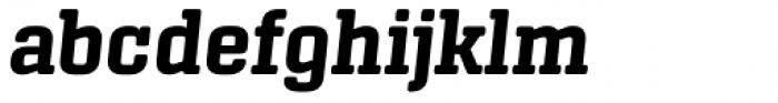 Center Slab Bold Italic Font LOWERCASE