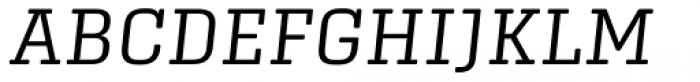 Center Slab Light Italic Font UPPERCASE