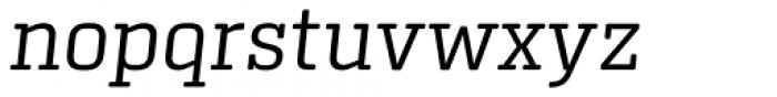 Center Slab Light Italic Font LOWERCASE