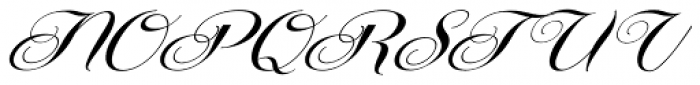 Centeria Script Fat Alt Slanted Font UPPERCASE