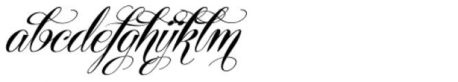 Centeria Script Fat Alt Slanted Font LOWERCASE
